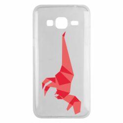 Чехол для Samsung J3 2016 Origami dinosaur