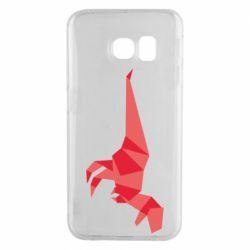 Чехол для Samsung S6 EDGE Origami dinosaur