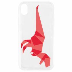 Чехол для iPhone XR Origami dinosaur