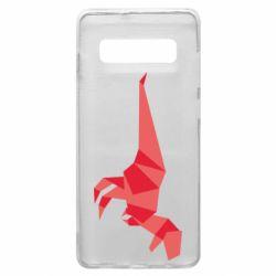 Чехол для Samsung S10+ Origami dinosaur