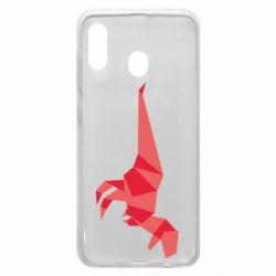 Чехол для Samsung A20 Origami dinosaur