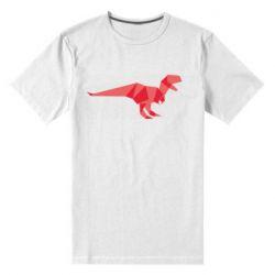 Мужская стрейчевая футболка Origami dinosaur