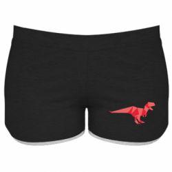 Женские шорты Origami dinosaur
