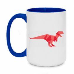Кружка двухцветная 420ml Origami dinosaur