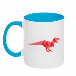 Кружка двухцветная 320ml Origami dinosaur
