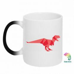 Кружка-хамелеон Origami dinosaur
