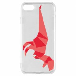 Чехол для iPhone 7 Origami dinosaur