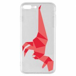 Чехол для iPhone 7 Plus Origami dinosaur