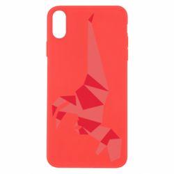 Чехол для iPhone X/Xs Origami dinosaur
