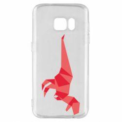 Чехол для Samsung S7 Origami dinosaur