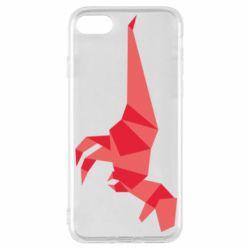 Чехол для iPhone 8 Origami dinosaur