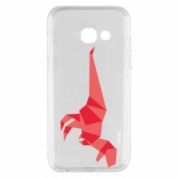 Чехол для Samsung A3 2017 Origami dinosaur