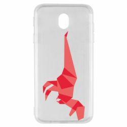 Чехол для Samsung J7 2017 Origami dinosaur