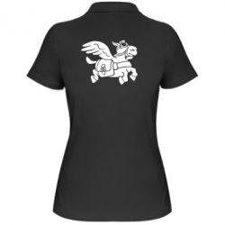 Женская футболка поло Осел-курьер (Dota 2)