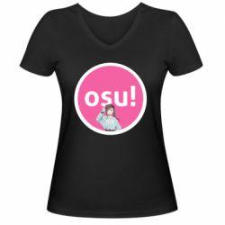 Женская футболка с V-образным вырезом Osu!
