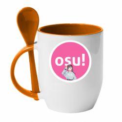 Кружка с керамической ложкой Osu!
