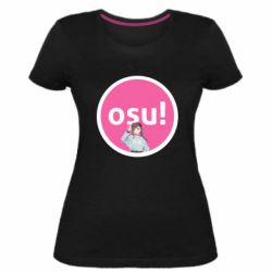 Женская стрейчевая футболка Osu!