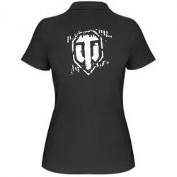 Женская футболка поло Отпечаток гусениц WOT - FatLine