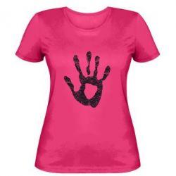 Женская футболка Отпечаток руки - FatLine