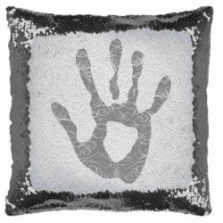 Подушка-хамелеон Отпечаток руки