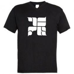 Мужская футболка  с V-образным вырезом Оу74 Танкоград - FatLine
