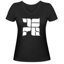 Женская футболка с V-образным вырезом Оу74 Танкоград - FatLine