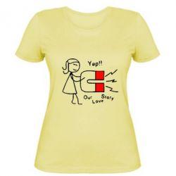 Женская футболка Our love story2 - FatLine
