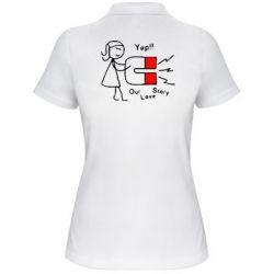 Купить Женская футболка поло Our love story2, FatLine