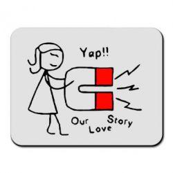 Коврик для мыши Our love story2