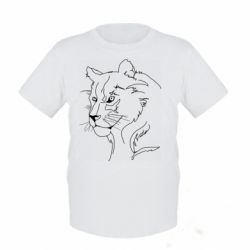 Дитяча футболка Outline drawing of a lion