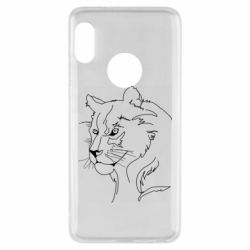Чехол для Xiaomi Redmi Note 5 Outline drawing of a lion