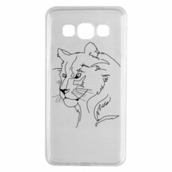 Чехол для Samsung A3 2015 Outline drawing of a lion