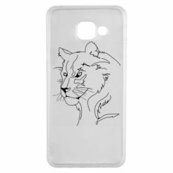 Чехол для Samsung A3 2016 Outline drawing of a lion