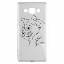 Чехол для Samsung A5 2015 Outline drawing of a lion