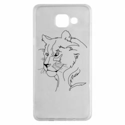 Чехол для Samsung A5 2016 Outline drawing of a lion