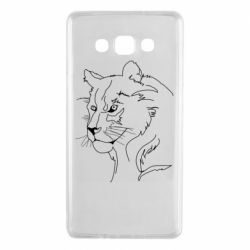 Чехол для Samsung A7 2015 Outline drawing of a lion