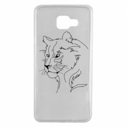 Чехол для Samsung A7 2016 Outline drawing of a lion