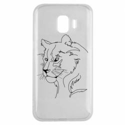 Чехол для Samsung J2 2018 Outline drawing of a lion