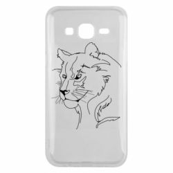 Чехол для Samsung J5 2015 Outline drawing of a lion