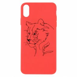 Чехол для iPhone Xs Max Outline drawing of a lion