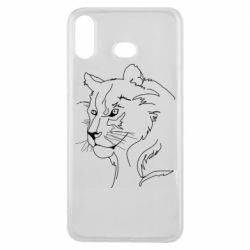 Чехол для Samsung A6s Outline drawing of a lion