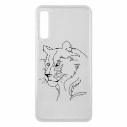 Чехол для Samsung A7 2018 Outline drawing of a lion