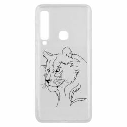 Чехол для Samsung A9 2018 Outline drawing of a lion