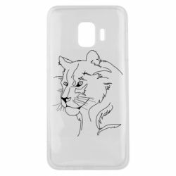 Чехол для Samsung J2 Core Outline drawing of a lion