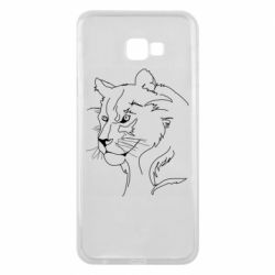Чехол для Samsung J4 Plus 2018 Outline drawing of a lion