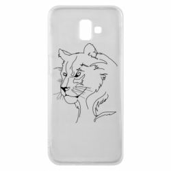 Чехол для Samsung J6 Plus 2018 Outline drawing of a lion