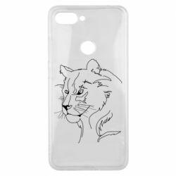 Чехол для Xiaomi Mi8 Lite Outline drawing of a lion