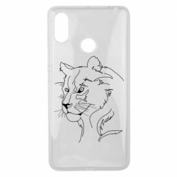 Чехол для Xiaomi Mi Max 3 Outline drawing of a lion