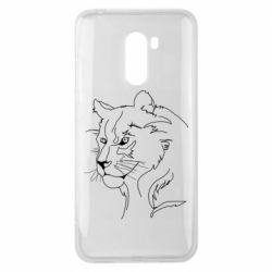 Чехол для Xiaomi Pocophone F1 Outline drawing of a lion