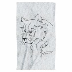 Полотенце Outline drawing of a lion